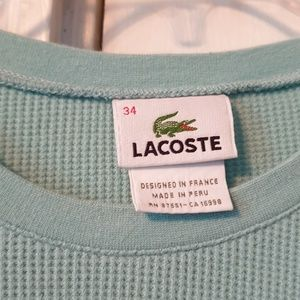 Women's Lacoste Long Sleeve Shirt size 34 Small